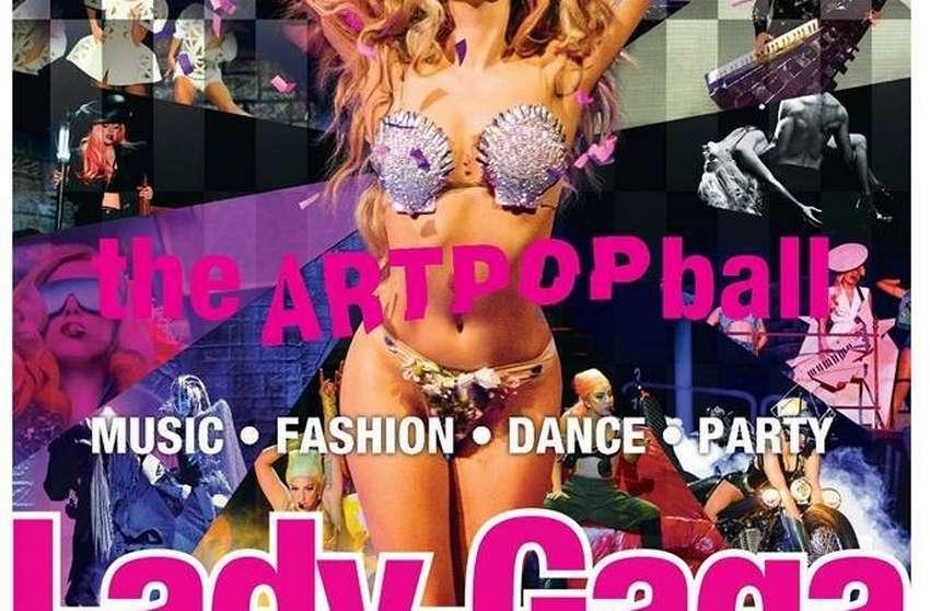 כרזת המופע של ליידי גאגא
